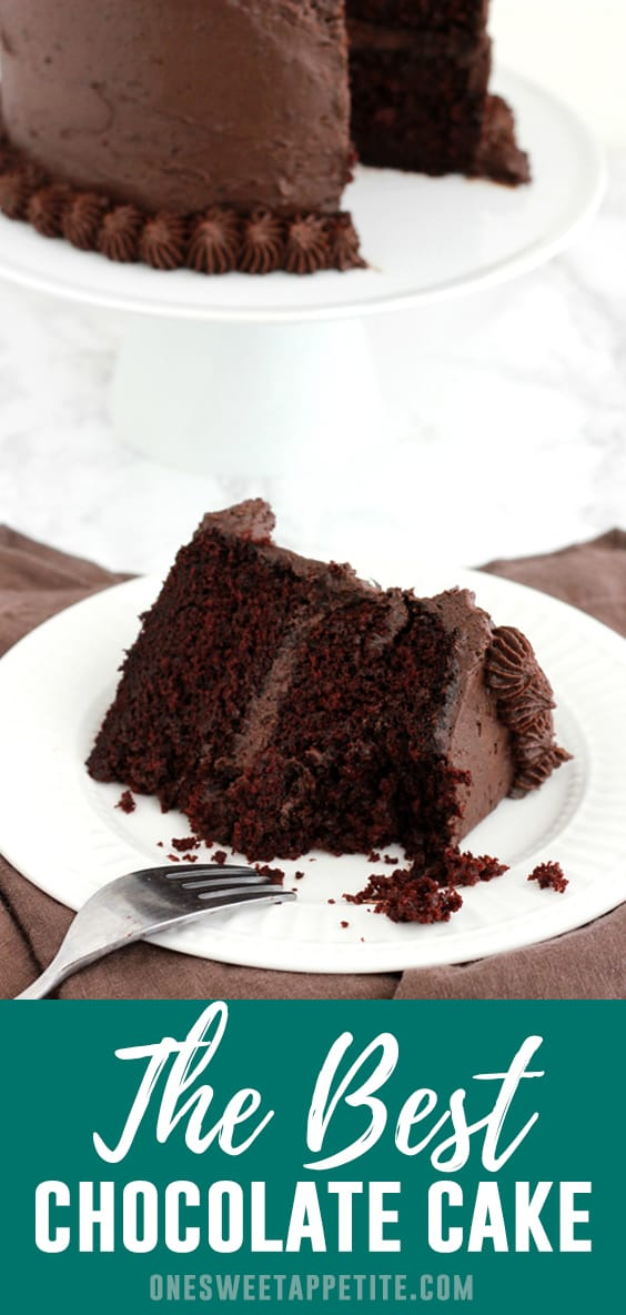 This is the very best chocolate cake recipe. Made with quality cocoa powder and fresh brewed coffee for boosted flavor and frosted with chocolate buttercream!