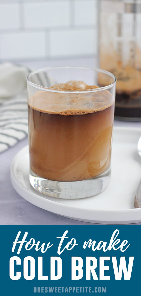 Learn how to make cold brew coffee with this easy recipe! No fancy equipment needed. Get started with freshly ground coffee beans, water, and a French Press or mason jar!