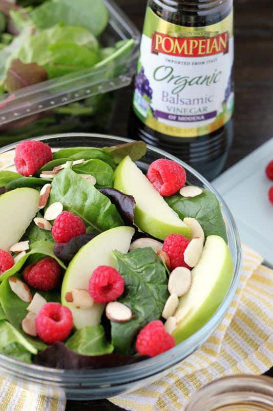 Spring salad with Lemon garlic vinaigrette