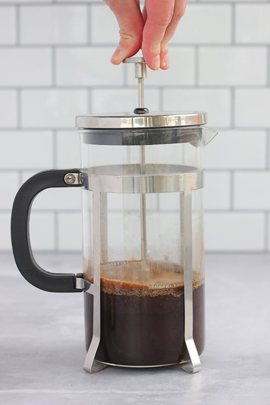 French Press Making Cold Brew
