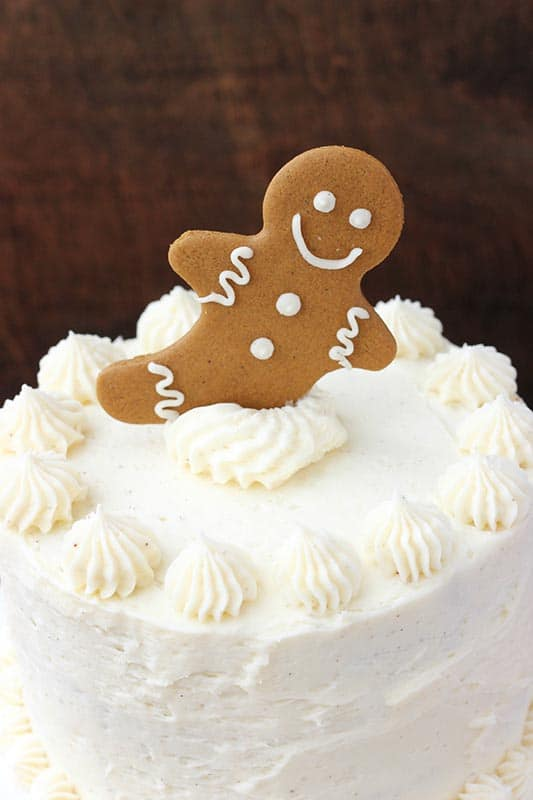Gingerbread Cake With Eggnog Frosting