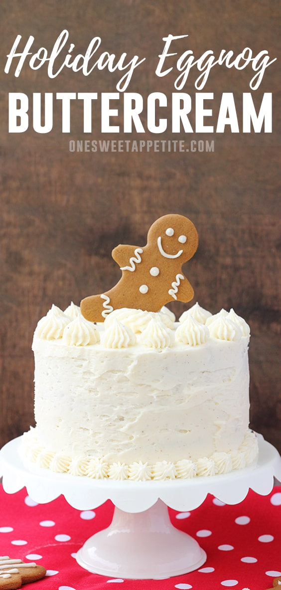 Perfect Holiday Eggnog Buttercream. Combine soft butter with powdered sugar, chilled eggnog, a pinch of nutmeg, and rum extract for a decadent frosting recipe