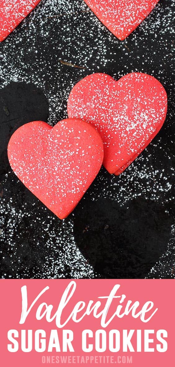 Valentine Sugar Cookies. Flour, baking powder, salt, and butter combine to give you the perfect cut out cookie recipe.