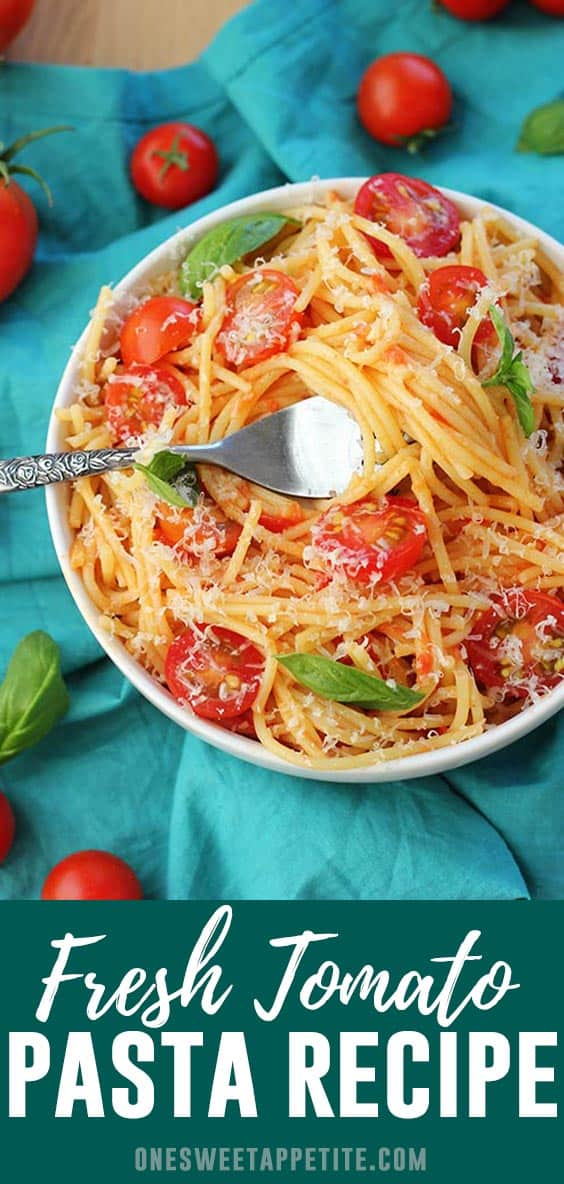 Fresh Tomato Pasta. Using fresh homegrown produce, Pompeian Robust Extra Virgin Olive Oil, and a few simple spices you can have the most amazing pasta recipe in minutes!