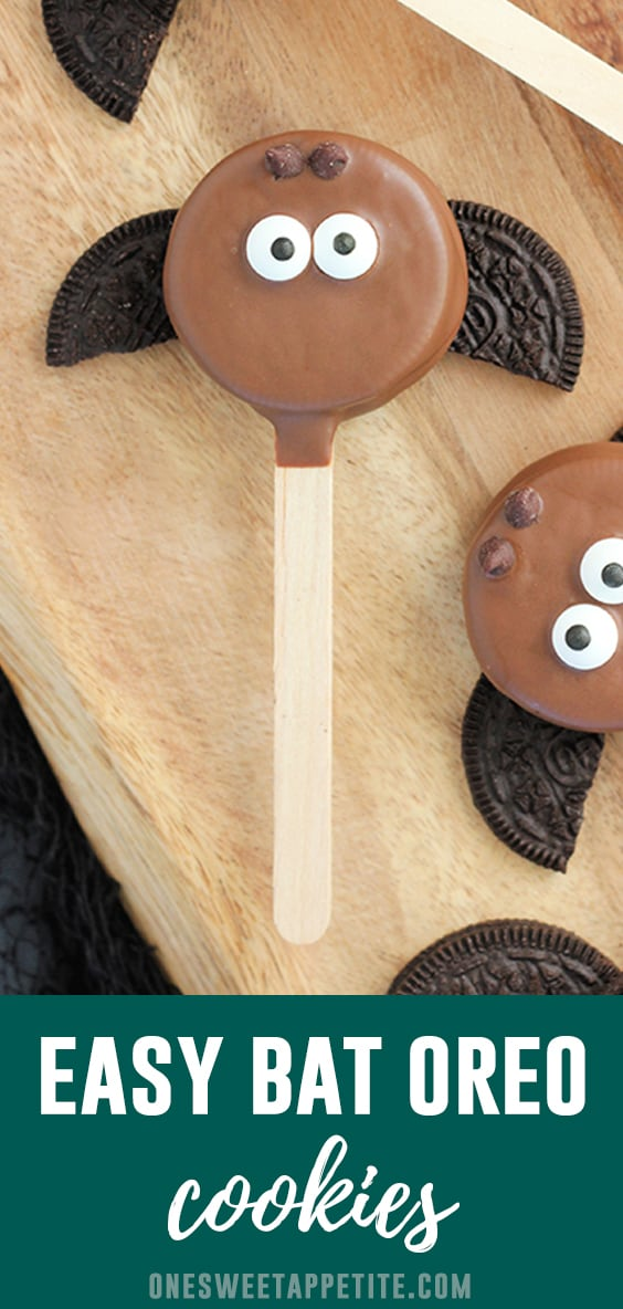 Easy Bat Oreo's. These cute little bat treats come together quickly and are a fun Halloween recipe the entire family will love helping with!