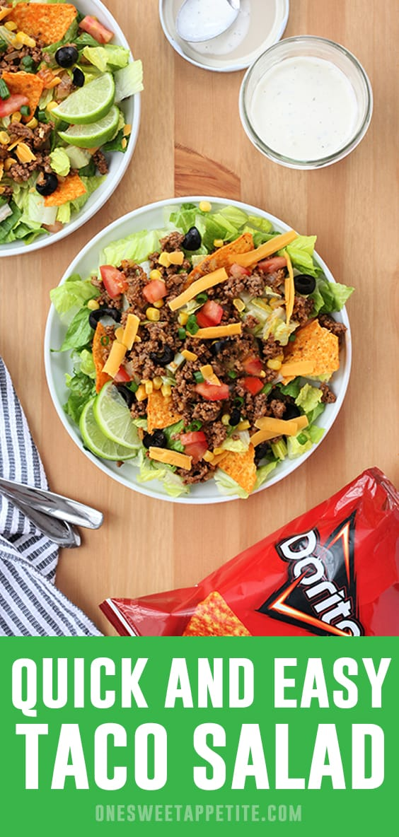 Quick and Easy Taco Salad Recipe - Ready in 20 minutes!