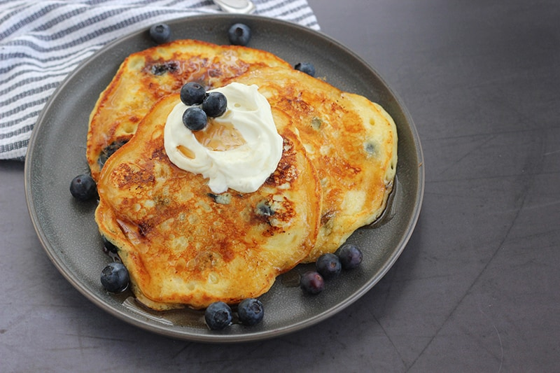 Blueberry Cream Cheese Pancake Recipe