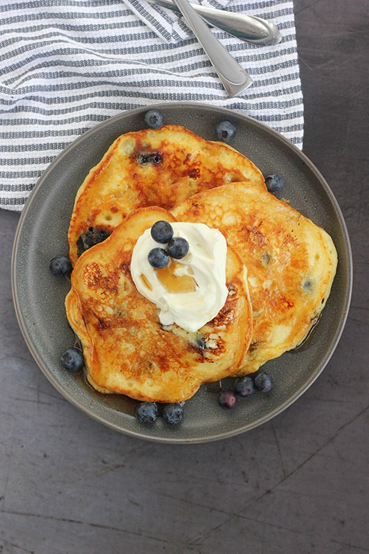 Chrissy Teigen's Blueberry Cream Cheese Pancake Recipe
