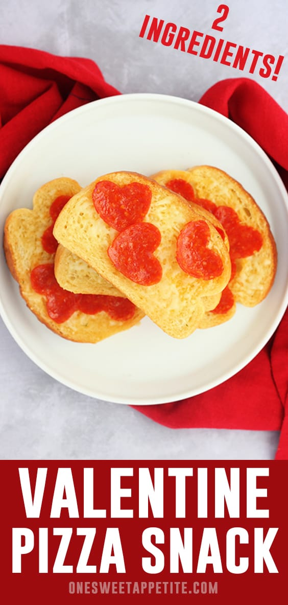 This super easy Valentine Pizza Snack is only TWO ingredients and kid approved! It is the perfect way to show some love to your family!
