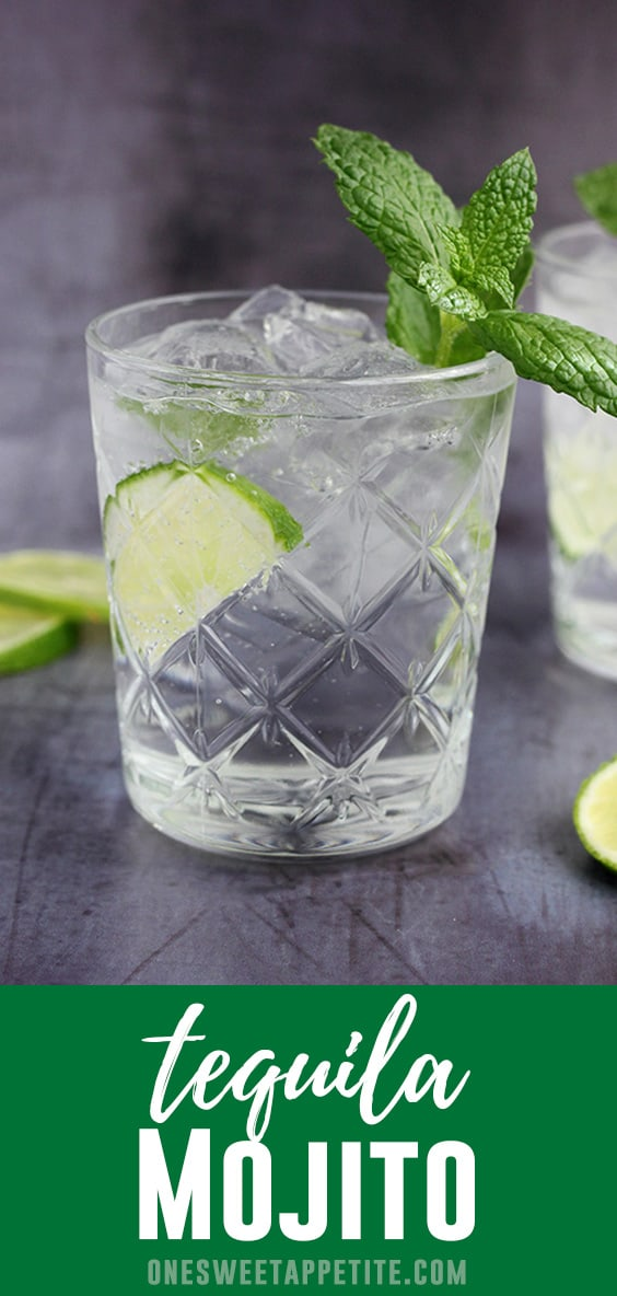 This Tequila Mojito has light citrus flavor with a hint of mint. The perfect refreshing cocktail recipe.