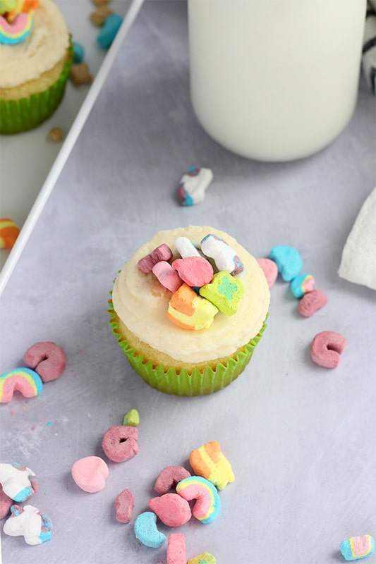 Easy Lucky Charm Cupcake Recipe