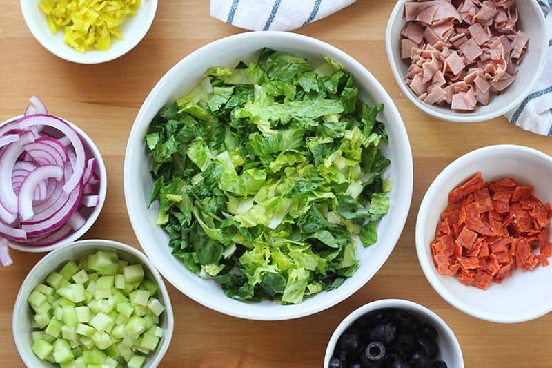 Easy Italian Chopped Salad Ingredients