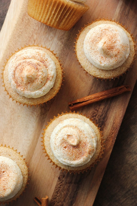 Cinnamon and sugar cupcakes