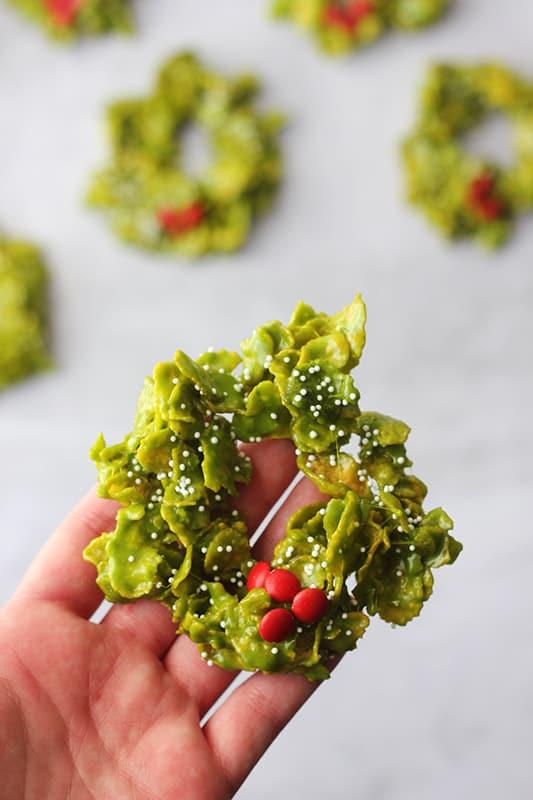 Christmas wreath cookie recipe
