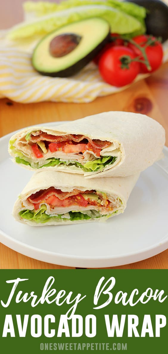 This super simple turkey wrap recipe has it all! Packed with deli sliced turkey, lettuce, tomato, bacon, avocado, and a secret ingredient that sends this wrap over the top!