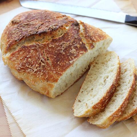 Overnight Artisan Bread Recipe- No Knead!
