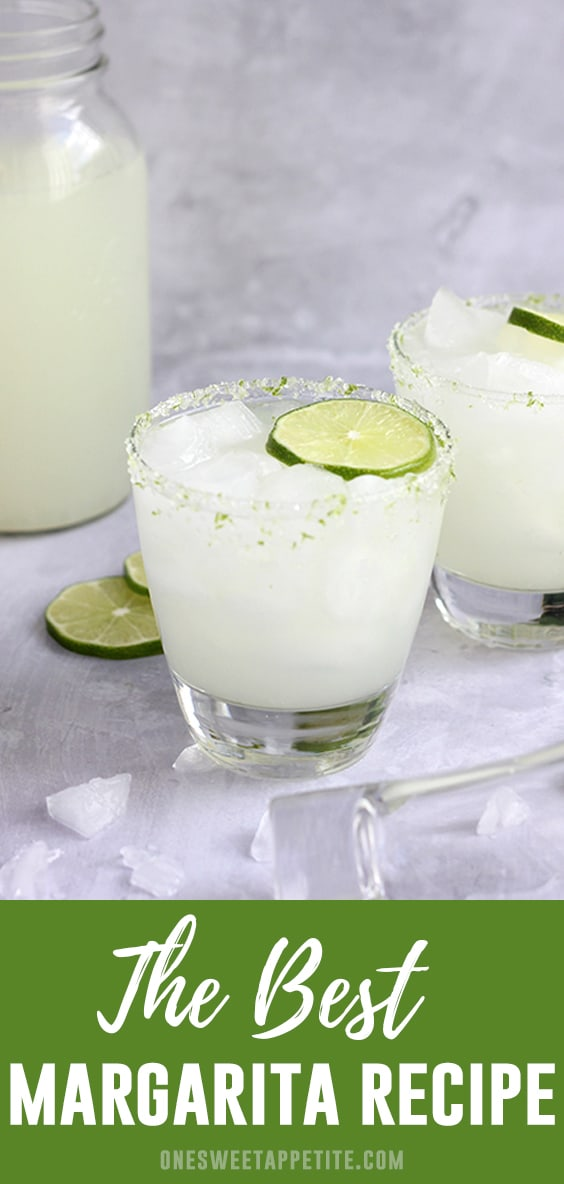 This easy margarita recipe combines tequila, lime juice, orange liqueur, and limeade for a quick and refreshing cocktail! Happy hour never tasted so good.