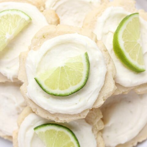 Coconut Lime Frosted Sugar Cookies