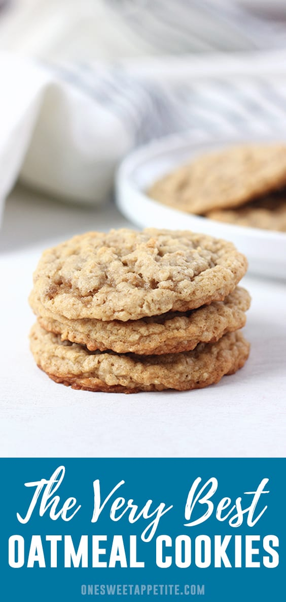 This perfect oatmeal cookies recipe is soft and chewy perfection! Made with brown sugar and the perfect base for add-ins!