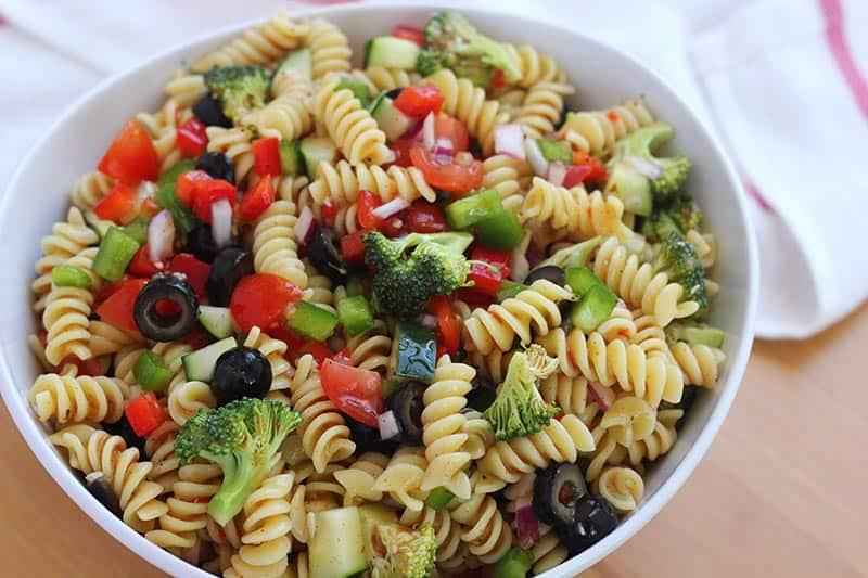 homemade pasta salad recipe
