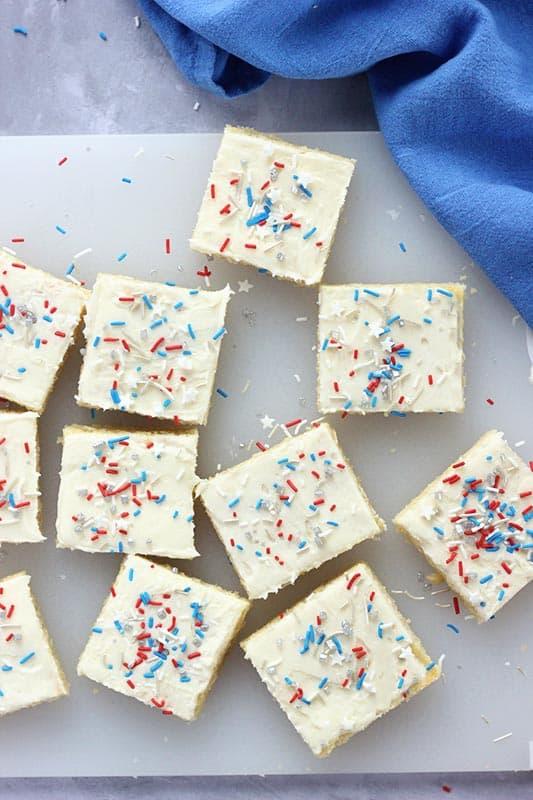 sugar cookie bars with sprinkles