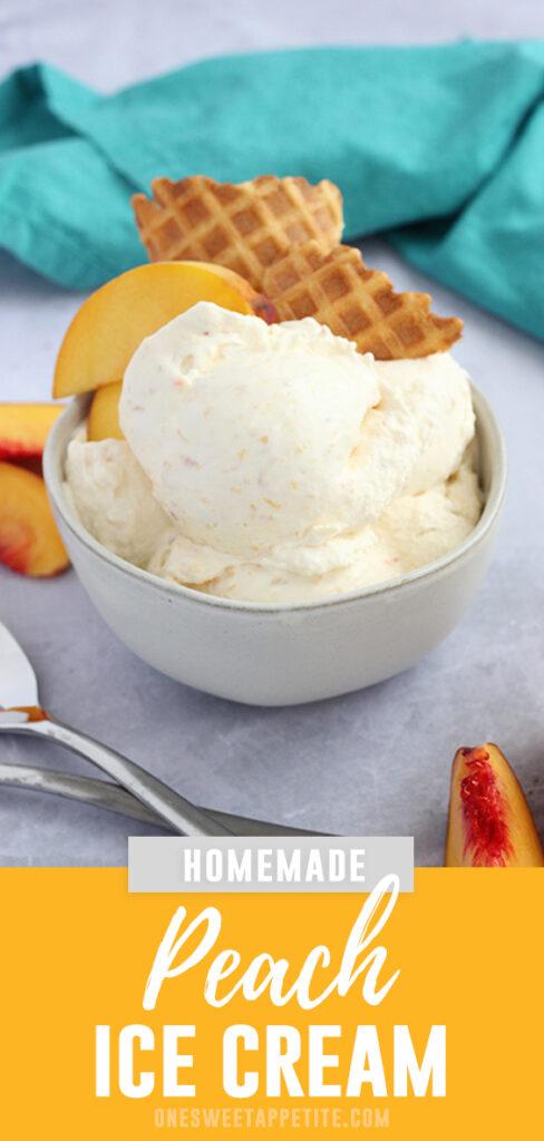 This easy peach ice cream recipe uses fresh produce for a bold flavor. Minimal ingredients needed for a rich and creamy fall ice cream.