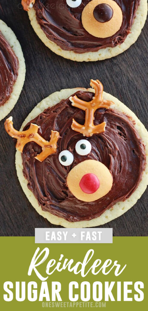 Reindeer Sugar Cookies. Cookie decorating is a joy with these holiday favorites! All you need is baked cookies, chocolate frosting, pretzels, vanilla wafers, and M&M's to recreate these adorable little deer!