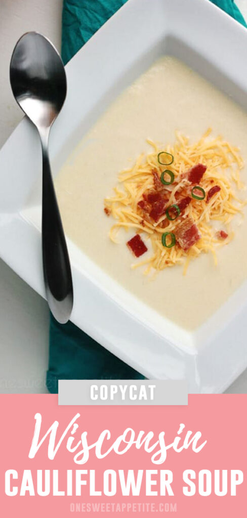 Copycat Wisconsin Cauliflower Soup. This belly warming recipe brings home the familiar flavor of the Zupa's soup. Chopped cauliflower is cooked and mixed with spices, chicken broth, and sprinkled with bacon for the perfect fall recipe.