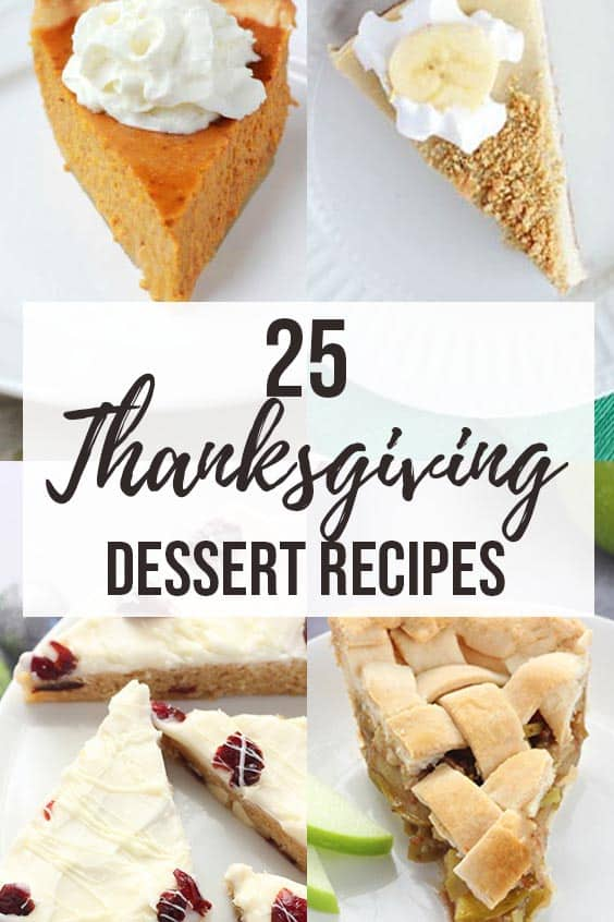 The BEST List of Thanksgiving Dessert Recipes