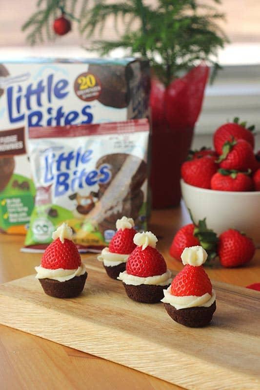 Little Bites Brownie Santa Hats