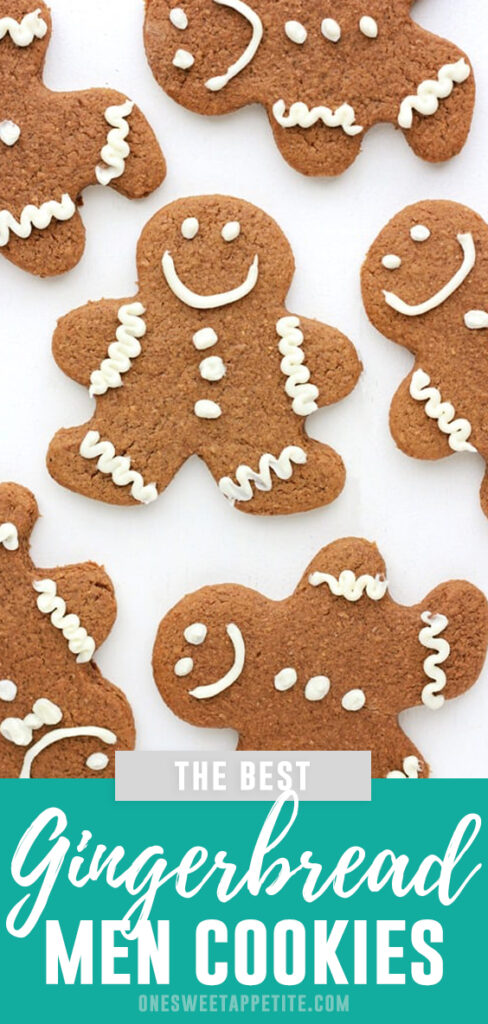 Gingerbread Men Cookies Recipe. Crunchy on the outside - soft and chewy in the center! These Christmas Cookies are the best way to add holiday flavor to your dessert tray!