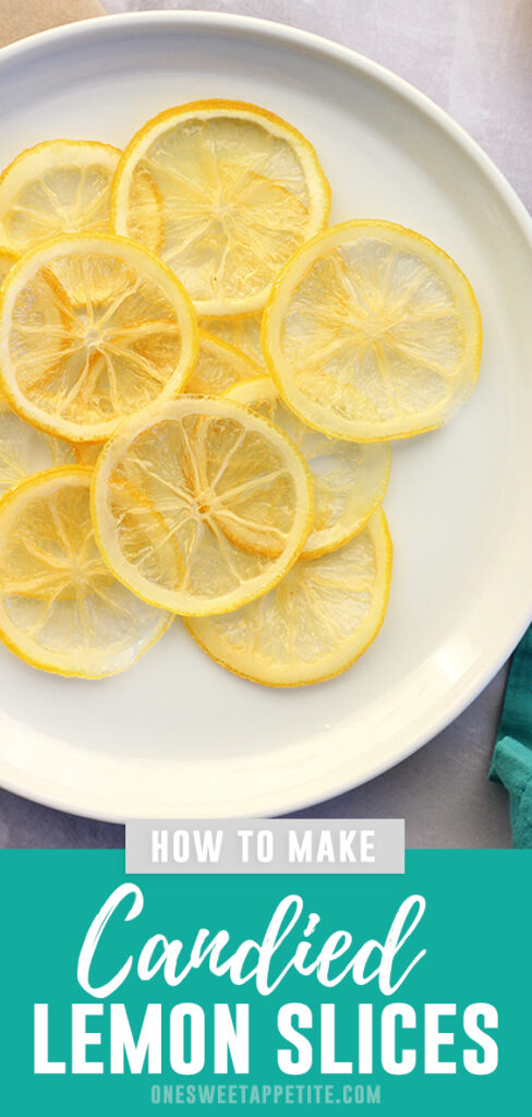 Candied lemon slices are so pretty on top of cakes and are ridiculously easy. Try this easy tutorial and learn how to candy lemon slices for yourself!