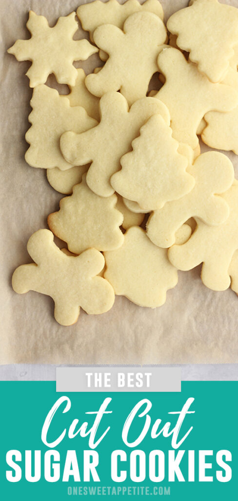 These are easily the BEST cut out sugar cookies. Made with simple ingredients and no chilling!