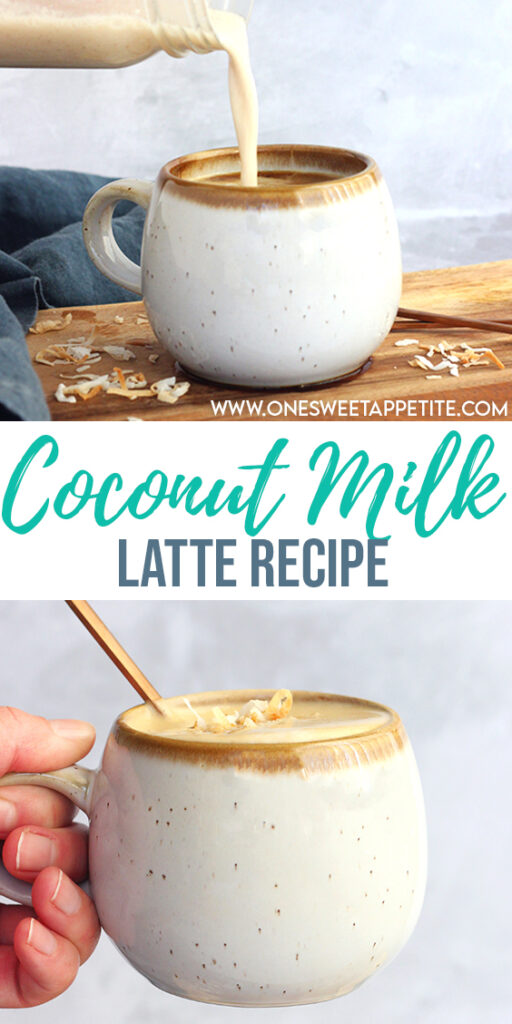 This Starbuck's Copycat Coconut Milk Latte is simple to make with just 3 simple ingredients and ready in 10 minutes!