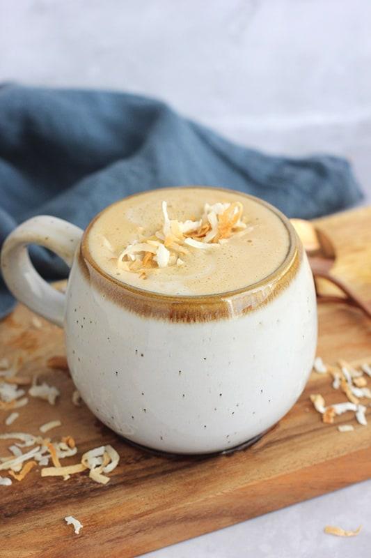 coconut milk latte recipe