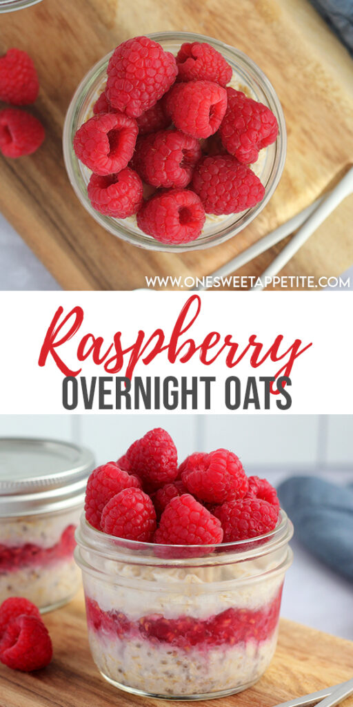 This easy raspberry overnight oats recipe is the perfect go-to breakfast. Ideal for busy weekdays and meal prep! Bonus? Easy to customize.