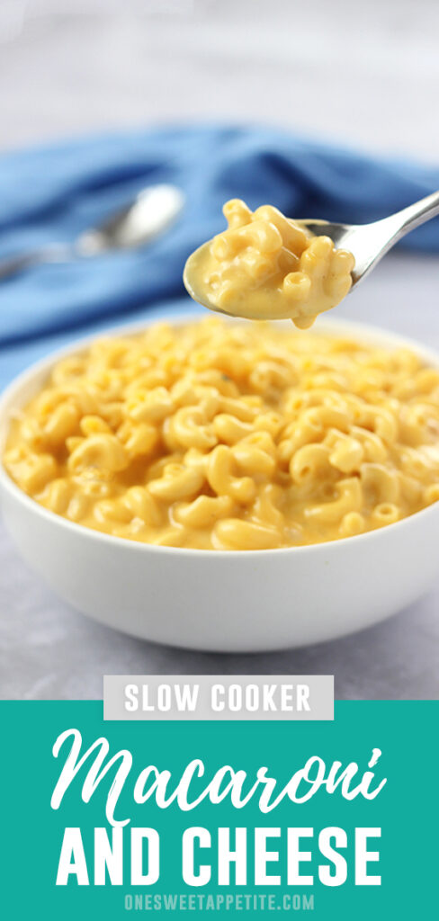 This easy slow cooker macaroni and cheese uses quality ingredients and gives you an effortlessly delicious dinner with minimal prep!