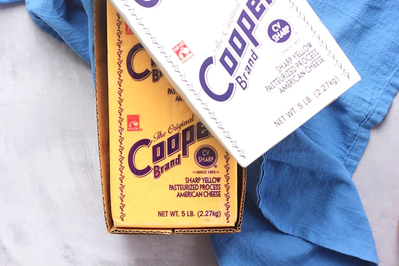 Cooper cheese in box
