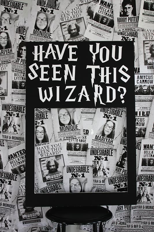 Harry Potter Wanted Poster Photo Booth
