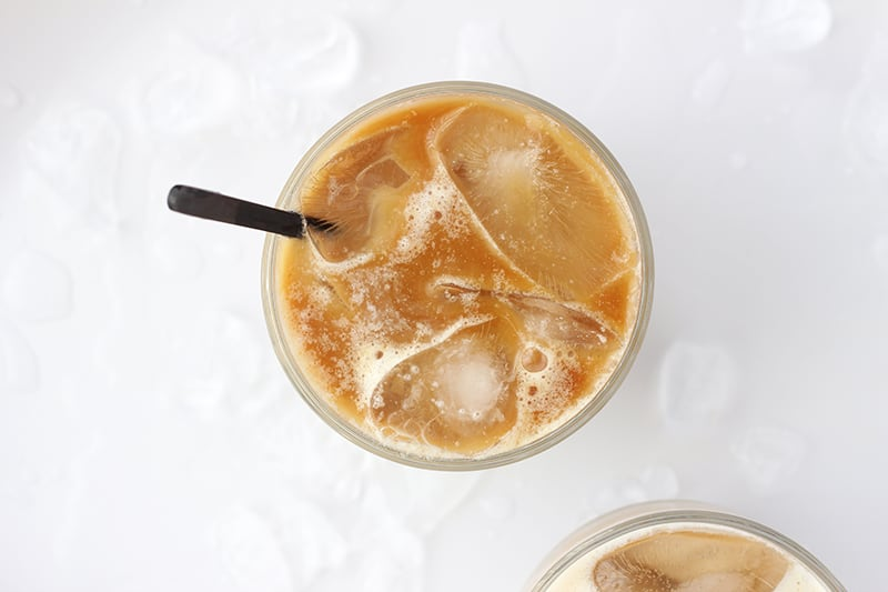 cold brew coffee over ice