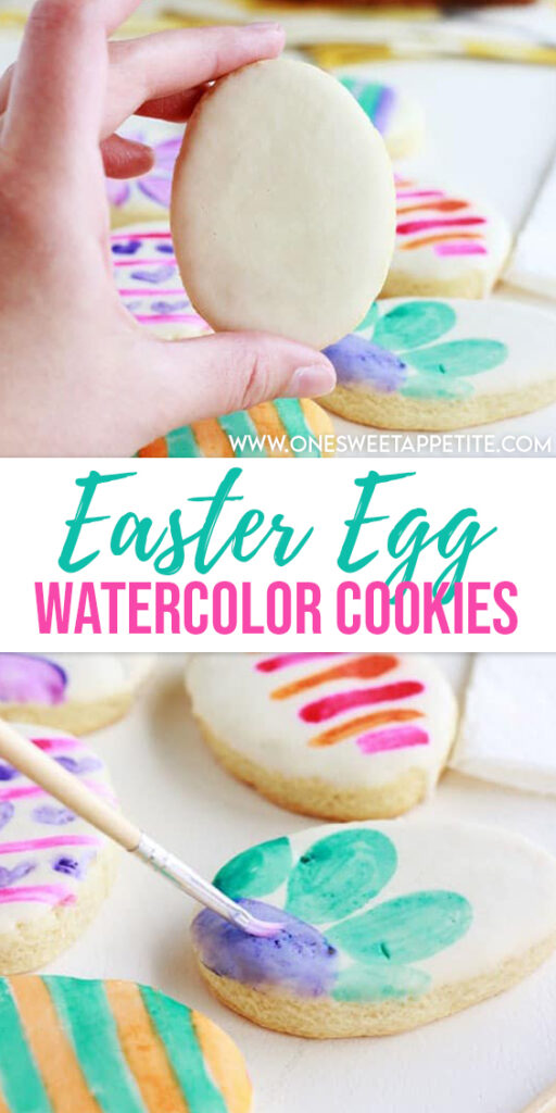 These easy watercolor cookies are the perfect addition to your Easter basket! Easy to make and a fun unique decorating idea!