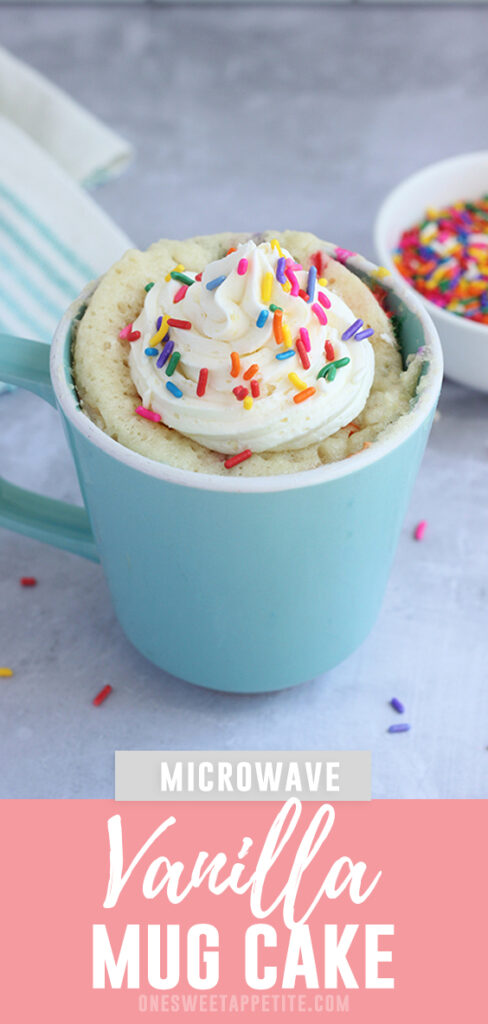 The best vanilla mug cake recipe you will ever find! You will never believe this was made in under five minutes and cooked in the microwave!