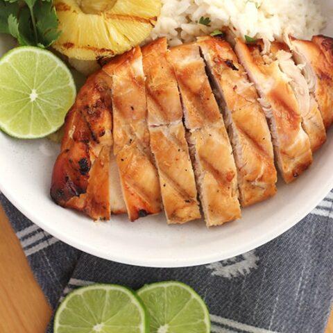Grilled Hawaiian Chicken Dinner