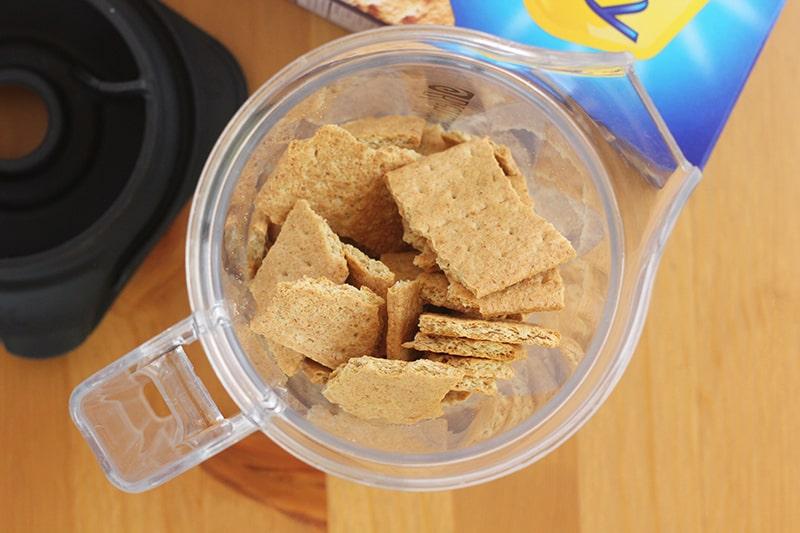 graham crackers inside of a blender