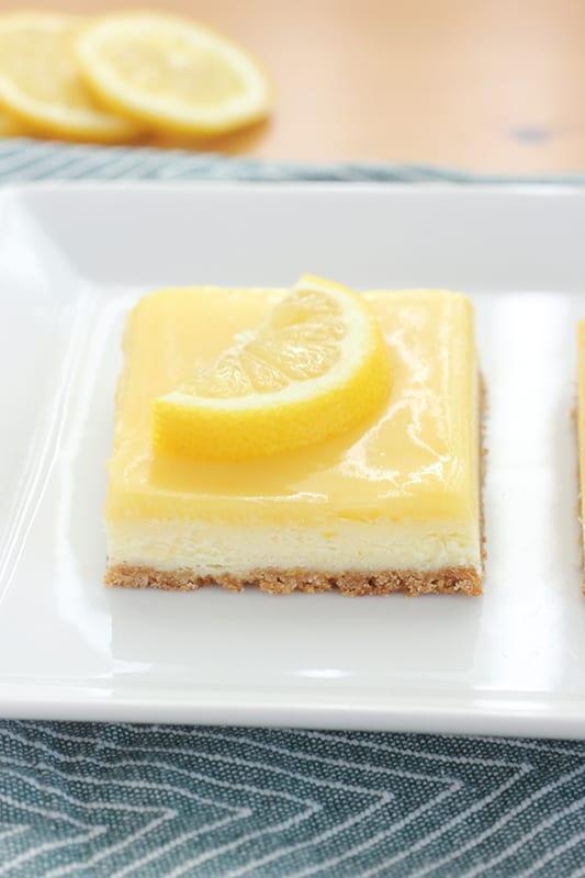 easy lemon cheesecake bars recipe