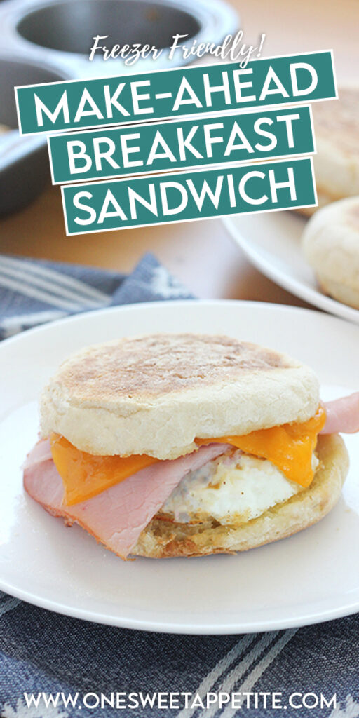 This easy recipe for English muffin breakfast sandwiches can be made ahead of time for a grab-and-go breakfast. Perfect to meal prep breakfast idea that can be kept in the refrigerator all week or stored in the freezer for later.