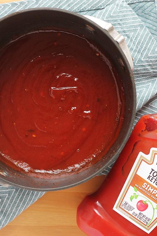 bbq sauce recipe in a pot