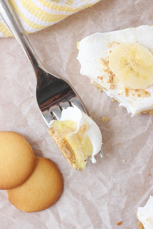 banana cream pie bar bite