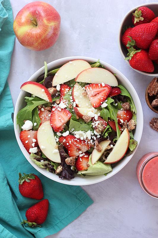 Strawberry Harvest Salad Recipe on a bowl