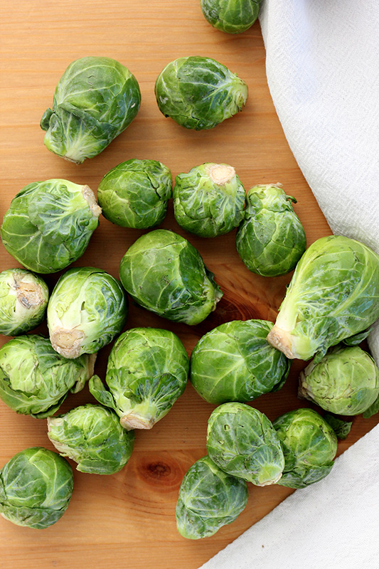 uncooked brussels sprouts on a table